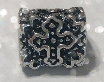 Cross Bead Spacer Charm for Big Hole Jewelry