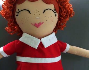 Little Orphan Annie / handmade doll / Annie Musical / Kids Decor