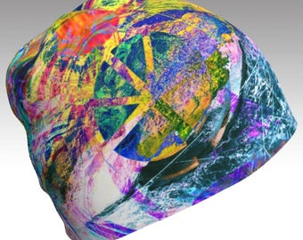"Limited Edition ""Capture Peace"" Abstract Beanie"