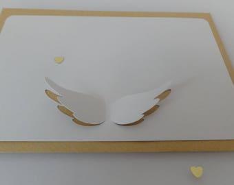 """Set of 2 """"Angel"""" cards & kraft envelopes"""
