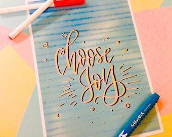 Choose Joy (Art Print)