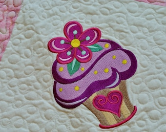 Cupcake Quilted Tablerunner
