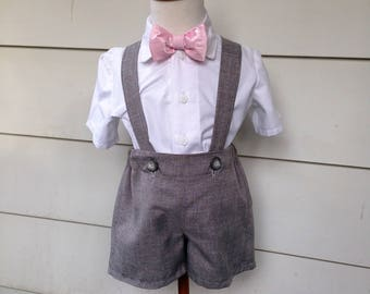 Gray Ring Bearer Outfit  in sizes 2T,3T,4T for your special wedding day.