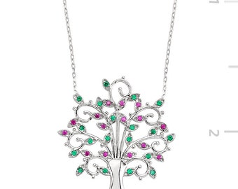 Silver Tree Necklace - IJ1-1172