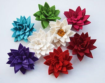 Isolyn Felt Lily Corsage this will add a splash of colour to any coat, blazer, dress or hat