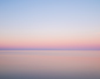 Pink Dawn, Ocean, Sea Abstract, beach, New England
