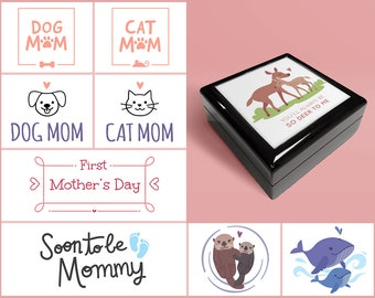 """Mother/Mom Inspired 6""""x6"""" Memory/Jewelry Box"""