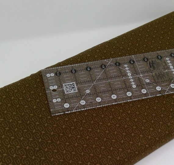Geometric Tone On Tone Print On Medium Chocolate Brown Clean Living by Barbara Jones of Quilt Soup, Quilt Fabric By The Yard 6690 33