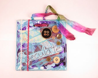Speculate - Mixed media wall hanging