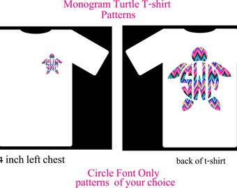 Monogram Shirt, Monogram Turtle T-Shirt