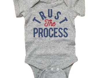 Trust The Process Philly Baby Shirt -  Retro Trust The Process Baby Clothes