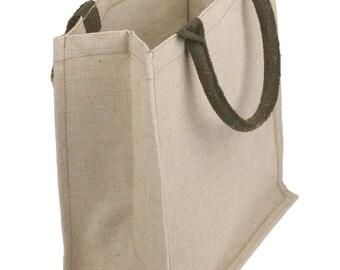 "Juco - Jute & Cotton Blend Tote Bag - 12"" x 12"" x 7.75"" (x 6)"