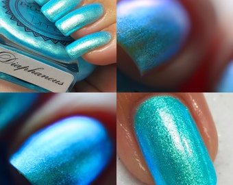 """P•O•P Polish """"Diaphanous"""" Nail Polish Quick Dry Ethereal Winter Iridescent Tags/ DuoChrome Mirror MultiChrome"""