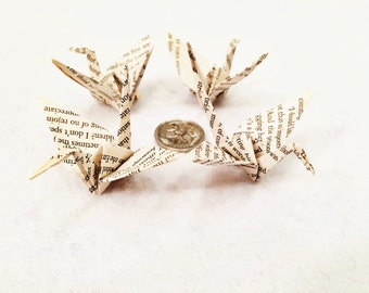 Medium Bookish Paper Cranes