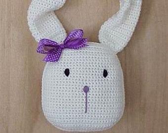 Easy CROCHET PATTERN Bunny Spring Wreath Rabbit Home Decor Blossom Bunny Door Hanger