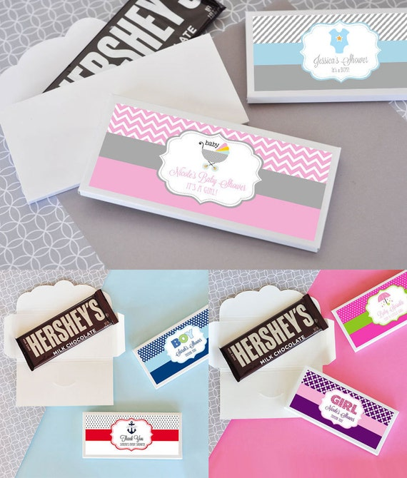 Baby Shower Candy Bar Wrapper Cover Personalized Candy