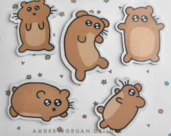 Hamster Magnets, Refrigerator Magnets, Cute Hamster, Silly Pets, Kawaii Magnets, Fridge Magnets, Kitchen Decor, Cute Kitchen