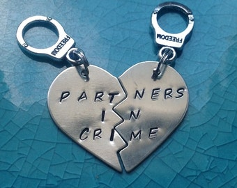 Partners In Crime Keychains-Nickel Silver-