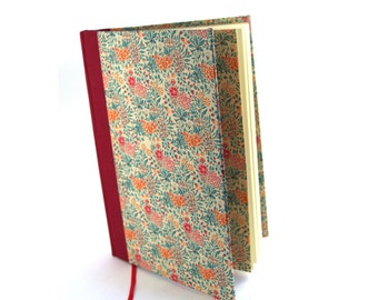 Diary / Notebook Summerflower red teal