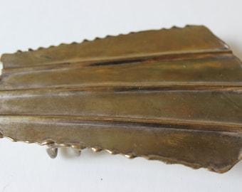Jahrgang Messing Gürtelschnalle 1970er Jahren hergestellt in Indien