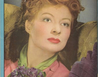 Vintage 1940s School Tablet Movie Star Greer Garson