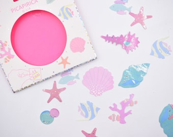 Holographic Beach Summer Sticker collection Set 48 pcs