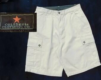 cargo shorts men ,vintage cotton shorts men -vintage shorts tan men ,men's cotton shorts, men's beige shorts, Size 32 shorts men ,    # 50