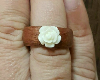 Wood veneer Rose ring