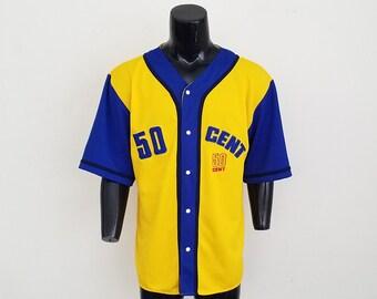 50 Cent Baseball Jersey Sz. L
