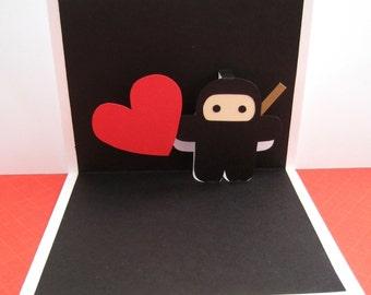 Personalized Ninja Pop Up Card