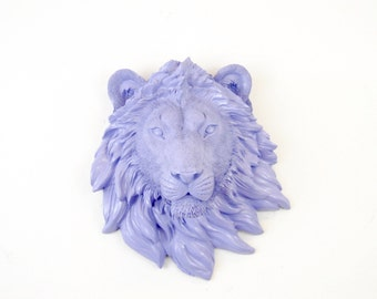 Miniature Lavender Lion Wall Mount - Faux Taxidermy MLI23