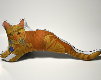 Orange Tabby Cat Pillow - Soft Toy - Made to Order