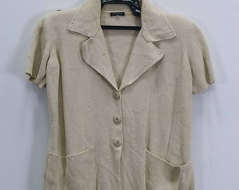 Vintage Giorgio Armani Sweater knitwear Shortsleeve Button front Made in Italy