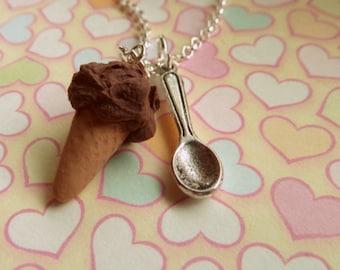 Chocolate Ice Cream Necklace