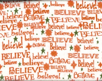 Believe 100% cotton  FLANNEL, sold by the yard  #251