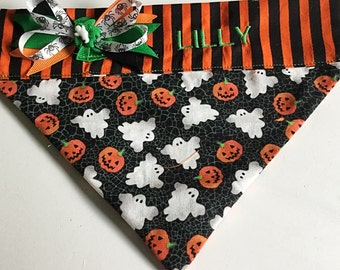 Halloween  Bandana with Ghosts and Pumpkins