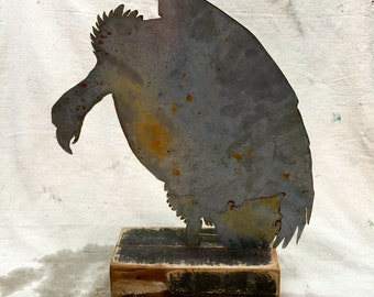 Tabletop Sculpture - Vulture Silhouette - faux taxidermy