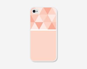 Geometric Phone Case - Ombre Peach Color Block Geometric iPhone 4 / 4s - 5 / 5s - 5c Case - Coral iPhone 5c Case - iPhone 5 Case - iPhone 4s