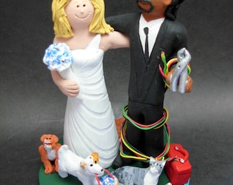 Mixed Race Cake Toppers - made to order
