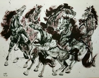 Powerful horse painting 1