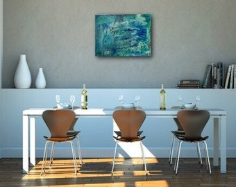 Textured abstract painting / art on 18 x 24 canvas / abstract art / textured painting / marbled / contemporary / wall art / original