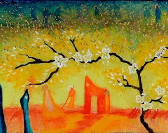 Fields.  Christian Art PRINT