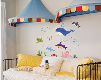 Ocean Wall Decal / Under The Sea Wall Decal Sticker