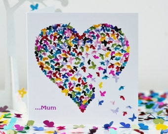 Mum Butterfly Mothers Day Card, Special Mum Heart Card, Mum You're So Special Card, Mothers Day Mum Card, Love Mum Mothers Day Card, Mumcard
