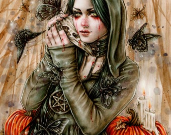 Wicked 8x10 Print Fnatasy Goth Art by Enys Guerrero