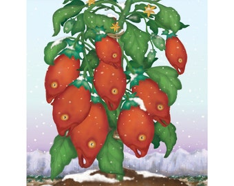 The Hardy Fish Tomato Plant Print