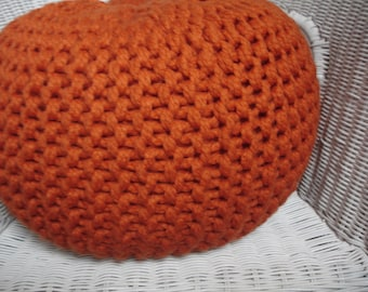 Hand knitted Pouf,Footstol,Ottoman,Floor cushion.( MADE TO ORDER )