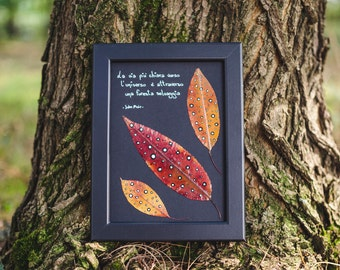 The most fashionable and incorniciat leaves-leaf painted framed