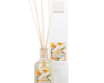 Welsh, Fresh and Relaxing Lime Flower & Bergamot Diffuser - Home Fragrance - Made in Wales - A Gift for You and Your Home - For Christmas