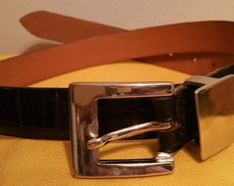 Fibel Italian Leather Belt. Made in Italy. Waist 27 to 33 inch.